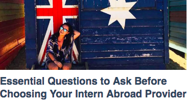 Question When Choosing Intern Abroad Provider